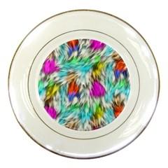 Fur Fabric Porcelain Plates