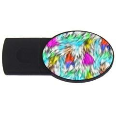 Fur Fabric USB Flash Drive Oval (4 GB)