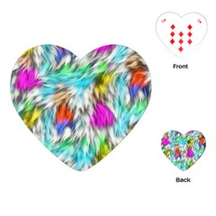 Fur Fabric Playing Cards (heart)