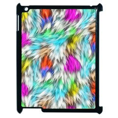 Fur Fabric Apple iPad 2 Case (Black)