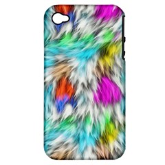 Fur Fabric Apple Iphone 4/4s Hardshell Case (pc+silicone)