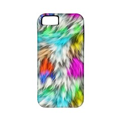 Fur Fabric Apple Iphone 5 Classic Hardshell Case (pc+silicone)