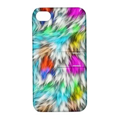 Fur Fabric Apple iPhone 4/4S Hardshell Case with Stand