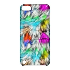 Fur Fabric Apple iPod Touch 5 Hardshell Case with Stand