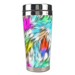 Fur Fabric Stainless Steel Travel Tumblers