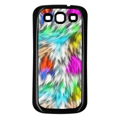 Fur Fabric Samsung Galaxy S3 Back Case (Black)