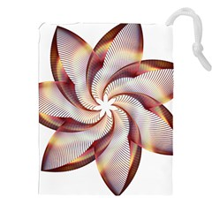 Prismatic Flower Line Gold Star Floral Drawstring Pouches (xxl)