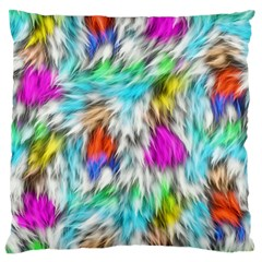 Fur Fabric Large Flano Cushion Case (Two Sides)