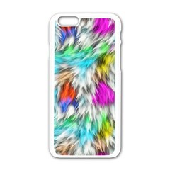 Fur Fabric Apple Iphone 6/6s White Enamel Case