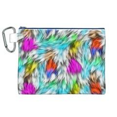 Fur Fabric Canvas Cosmetic Bag (XL)