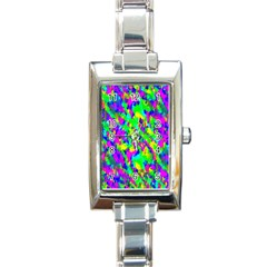 Red Black Gray Background Rectangle Italian Charm Watch