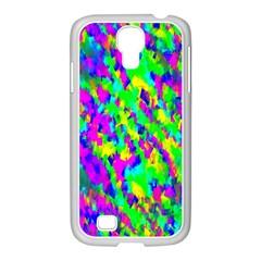 Red Black Gray Background Samsung Galaxy S4 I9500/ I9505 Case (white)