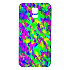 Red Black Gray Background Samsung Galaxy S5 Back Case (White)