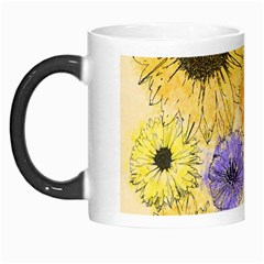 Multi Flower Line Drawing Morph Mugs