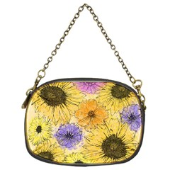Multi Flower Line Drawing Chain Purses (two Sides)