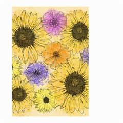 Multi Flower Line Drawing Small Garden Flag (Two Sides)
