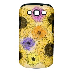 Multi Flower Line Drawing Samsung Galaxy S III Classic Hardshell Case (PC+Silicone)