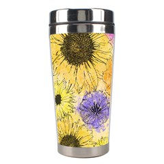 Multi Flower Line Drawing Stainless Steel Travel Tumblers
