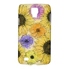 Multi Flower Line Drawing Galaxy S4 Active