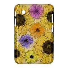 Multi Flower Line Drawing Samsung Galaxy Tab 2 (7 ) P3100 Hardshell Case