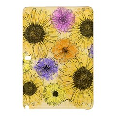 Multi Flower Line Drawing Samsung Galaxy Tab Pro 10.1 Hardshell Case