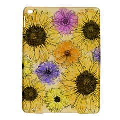 Multi Flower Line Drawing iPad Air 2 Hardshell Cases