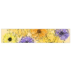 Multi Flower Line Drawing Flano Scarf (small)