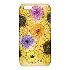Multi Flower Line Drawing iPhone 6/6S TPU Case