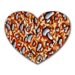 Pebble Painting Heart Mousepads