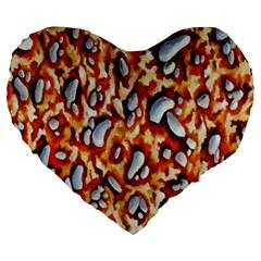 Pebble Painting Large 19  Premium Heart Shape Cushions