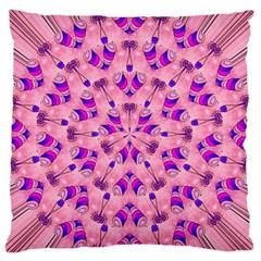 Mandala Tiling Large Flano Cushion Case (One Side)