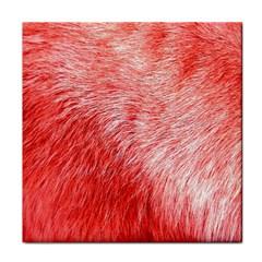 Pink Fur Background Tile Coasters