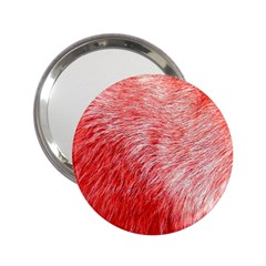 Pink Fur Background 2.25  Handbag Mirrors