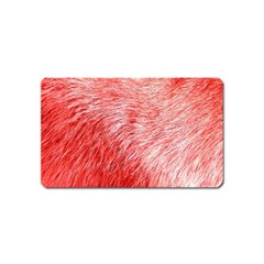 Pink Fur Background Magnet (name Card)