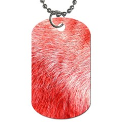 Pink Fur Background Dog Tag (Two Sides)