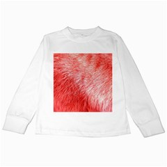 Pink Fur Background Kids Long Sleeve T-Shirts