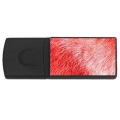 Pink Fur Background Usb Flash Drive Rectangular (4 Gb)