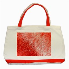 Pink Fur Background Classic Tote Bag (Red)
