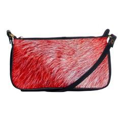 Pink Fur Background Shoulder Clutch Bags