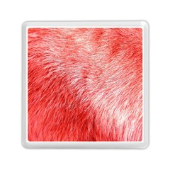 Pink Fur Background Memory Card Reader (square)