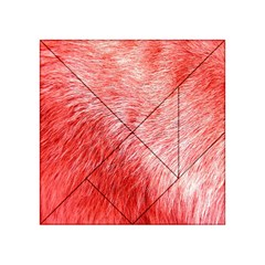 Pink Fur Background Acrylic Tangram Puzzle (4  x 4 )