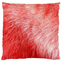 Pink Fur Background Large Cushion Case (Two Sides)