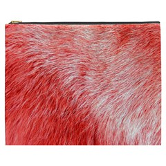 Pink Fur Background Cosmetic Bag (XXXL)