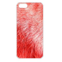 Pink Fur Background Apple Iphone 5 Seamless Case (white)
