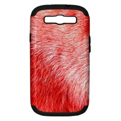Pink Fur Background Samsung Galaxy S III Hardshell Case (PC+Silicone)