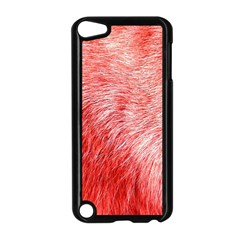 Pink Fur Background Apple Ipod Touch 5 Case (black)