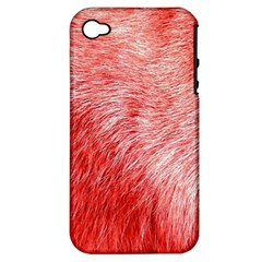 Pink Fur Background Apple iPhone 4/4S Hardshell Case (PC+Silicone)