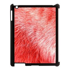 Pink Fur Background Apple iPad 3/4 Case (Black)
