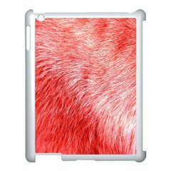 Pink Fur Background Apple iPad 3/4 Case (White)