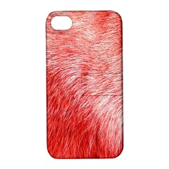 Pink Fur Background Apple iPhone 4/4S Hardshell Case with Stand